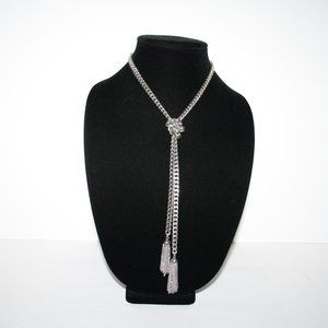Vintage Jewelry - Long vintage tie chain necklace